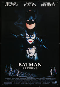 An original movie poster for the film Batman Returns
