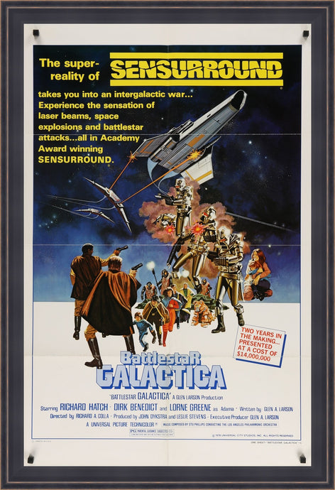 An original movie poster for the film Battlestar Galactica