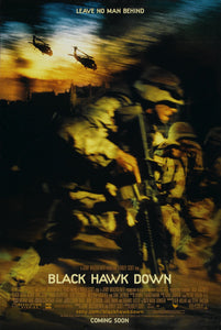 An original movie poster for the film Black Hawk Down