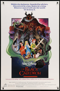 An original movie / film poster for Disney's The Black Cauldron
