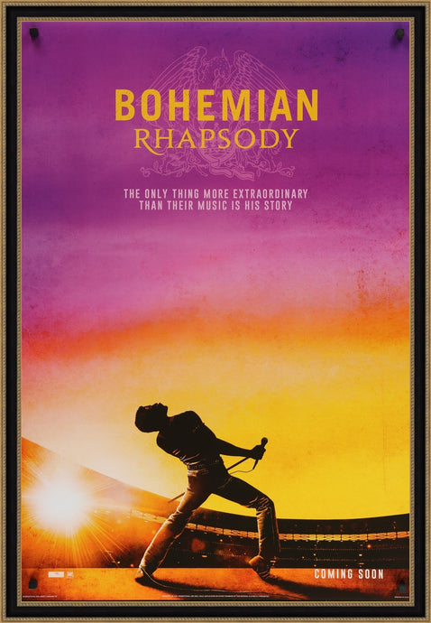 An original movie poster for the film Bohemian Rhapsody