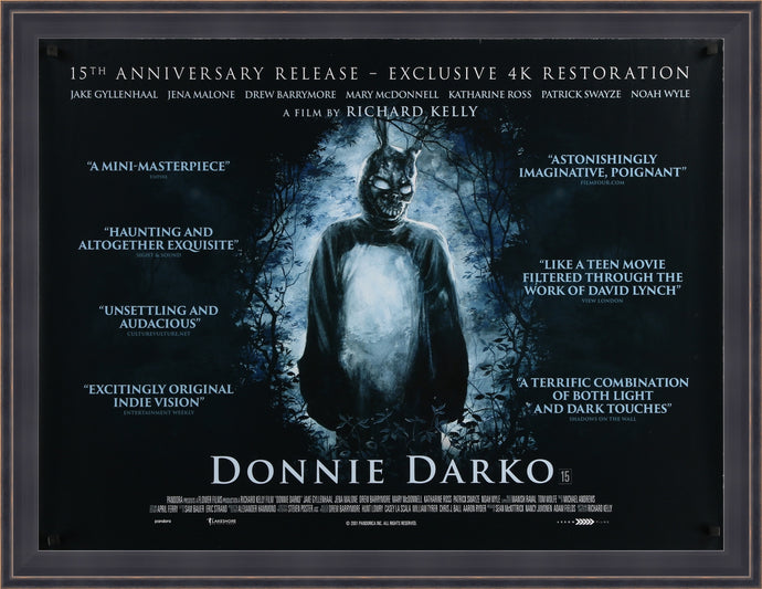 An original movie poster for the film Donnie Darko