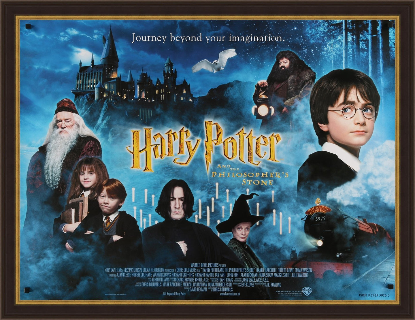 An original movie poster for the film Harry Potter and the Philosopher's Stone