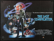 Load image into Gallery viewer, An original British Quad movie poster for the film The Last Starfighter