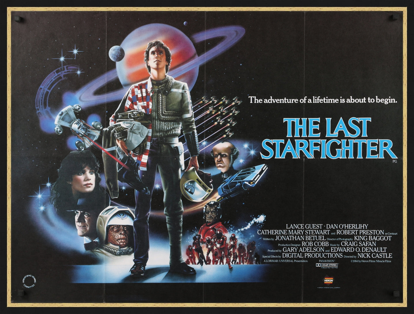 An original British Quad movie poster for the film The Last Starfighter