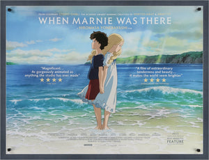 An original movie poster for the film When Marnie Was Here