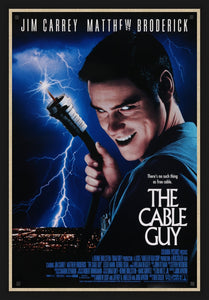 An original movie poster for the film The Cable Guy