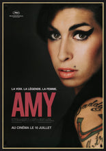Load image into Gallery viewer, An original movie poster for the biographical film Amy, of Amy Winehouse