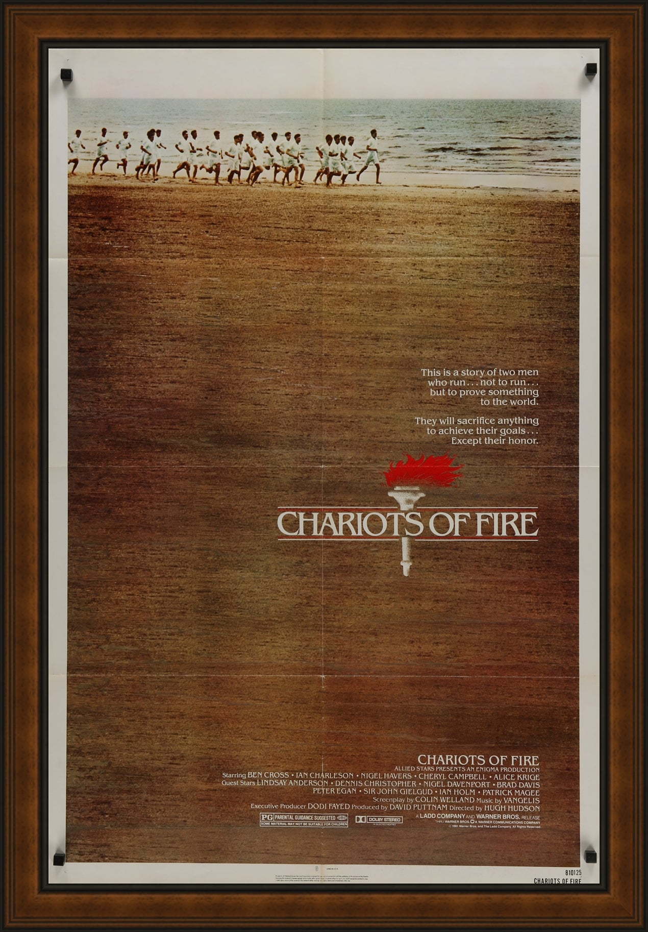 A one sheet movie / film poster for Chariots of Fire