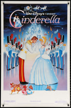 Load image into Gallery viewer, An original movie poster for the Disney animated film Cinderella