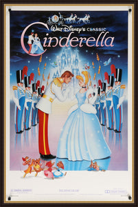An original movie poster for the Disney animated film Cinderella