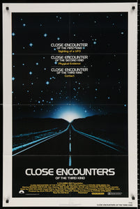An original movie poster for the film Close Encounters Of The Third Kind