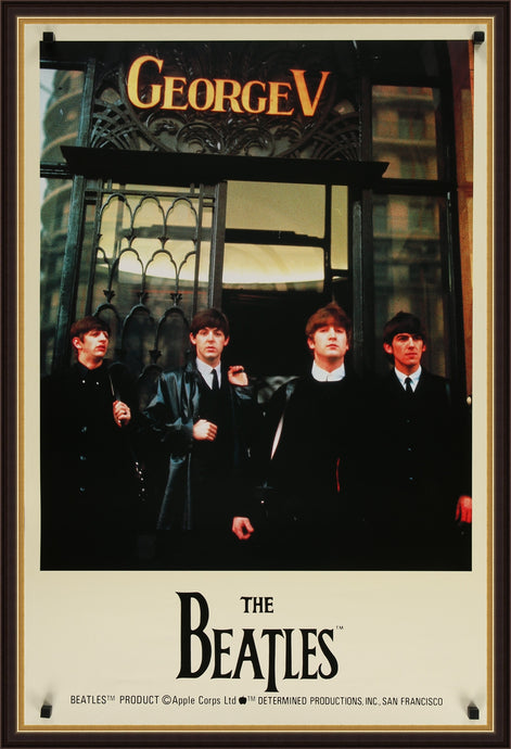 An original licensed poster of the Beatles, from the 1980s