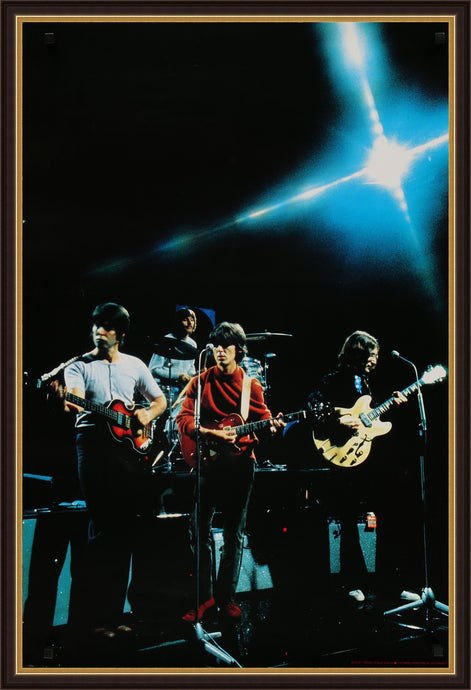 An original licensed poster of the Beatles