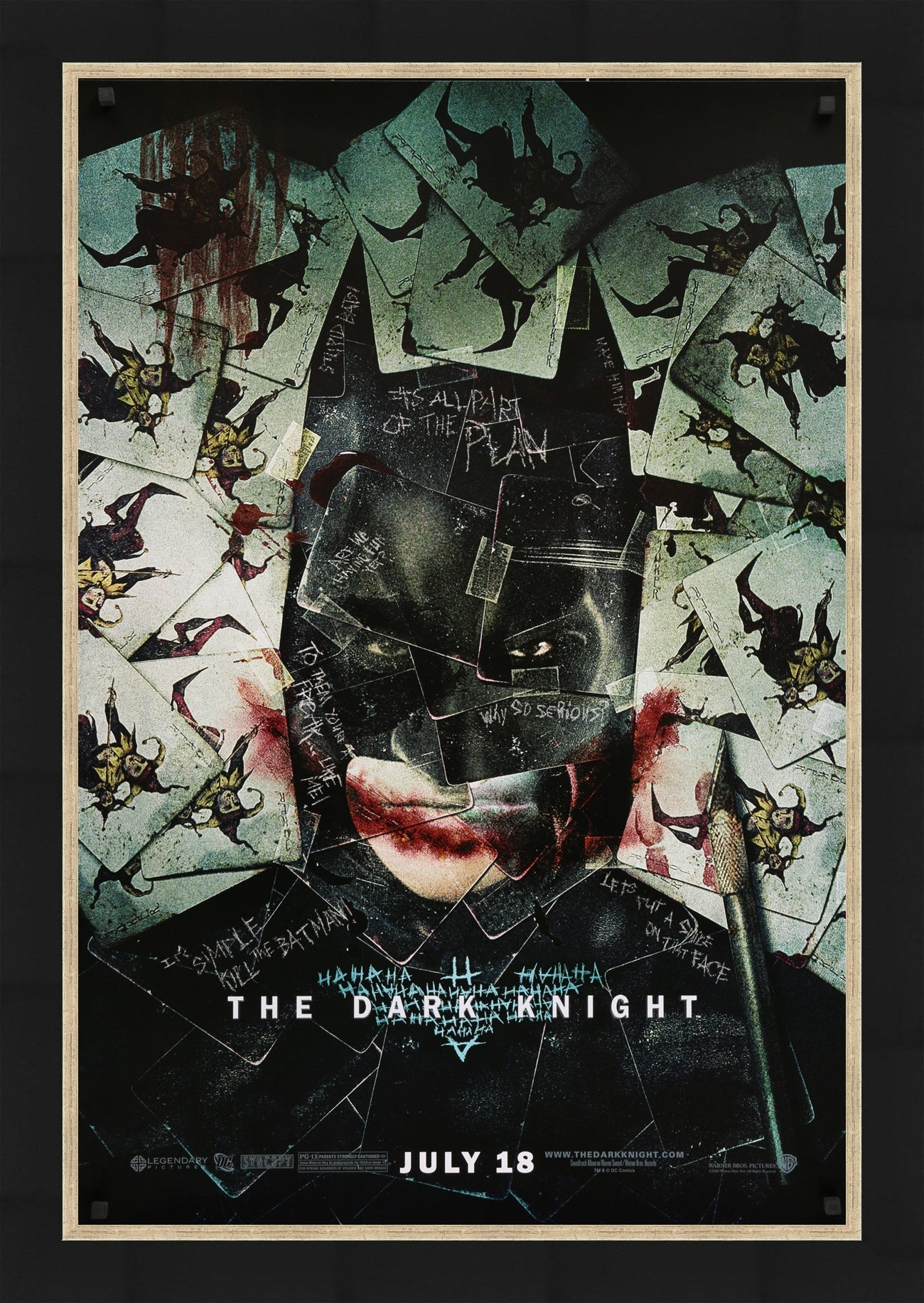 An original movie poster for the Batman film The Dark Knight