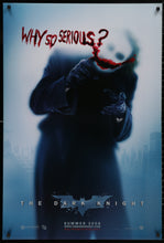 Load image into Gallery viewer, An original 'Joker style' (Heath Ledger) movie poster for the Batman film The Dark Knight
