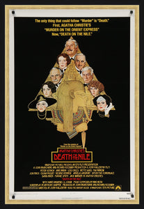 An original movie poster for the 1978 film adaptation of Agatha Christie's Death On The Nile
