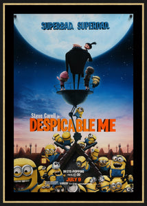 An original movie poster for Despicable Me with the minions