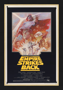 An original movie poster for Star Wars The Empire Strikes Back