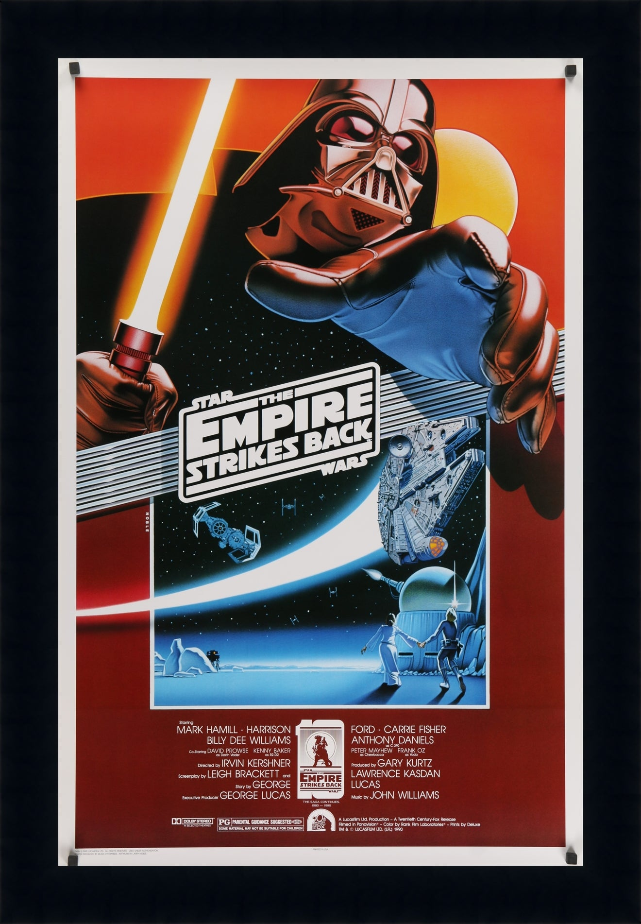 A one sheet movie poster by Kilian Enterprises for Star Wars - The Empire Strikes Back