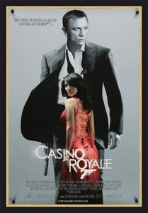 An original movie poster for the James Bond film Casino Royale