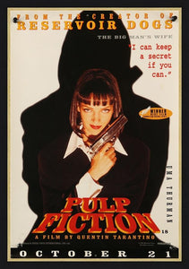 An original character poster for the Tarantino film Pulp Fiction