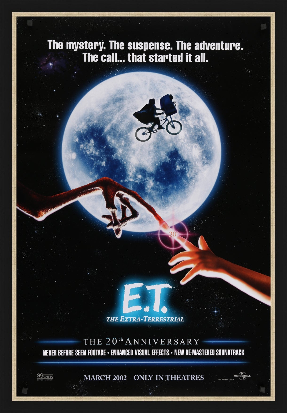 An original movie poster for E.T. The Extra Terrestrial