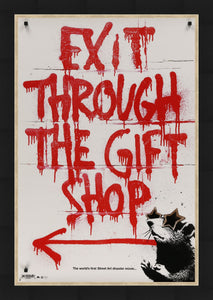 An original movie poster for the Banksy film Exit Through The Gift Shop