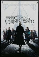 Load image into Gallery viewer, An original movie poster for the film Fantastic Beasts - The Crimes of Grindelwald