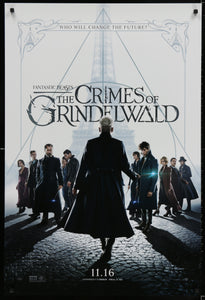 An original movie poster for the film Fantastic Beasts - The Crimes of Grindelwald