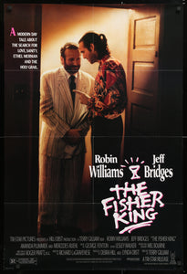An original movie poster for the film The Fisher King