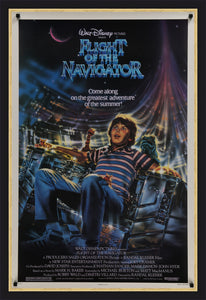 An original movie poster for the Disney film Flight of the Navigator