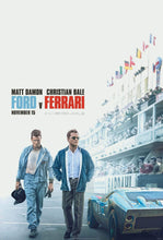 Load image into Gallery viewer, A movie poster for the film Ford v Ferrari (Le Mans 66)
