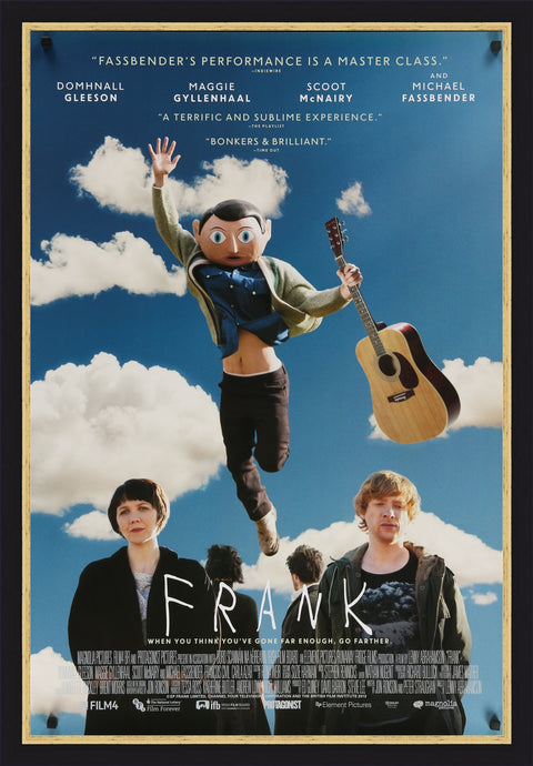 An original movie poster for the film Frank, based on Frank Sidebottom
