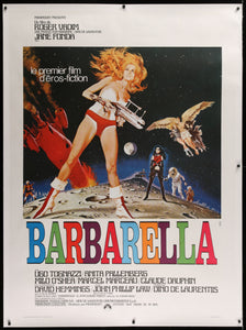 An original French Grande movie poster for the film Barbarella by Robery McGinnis