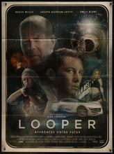Load image into Gallery viewer, An original movie poster for the film Looper by Richard Davies