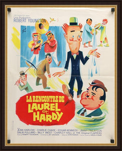 An original movie poster for the film The Further Perils of Laurel and Hardy