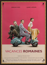 Load image into Gallery viewer, An original French petite movie poster for the Audrey Hepburn film Roman Holiday
