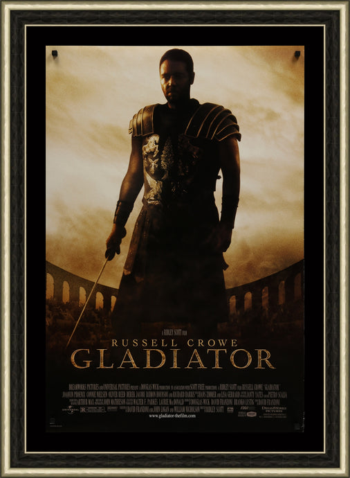 An original movie poster from Ridley Scott's Gladiator starring Russell Crowe
