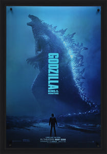 An original movie poster for the film Godzilla King of the Monsters