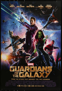 An original movie / film poster for The Guardians of the Galaxy