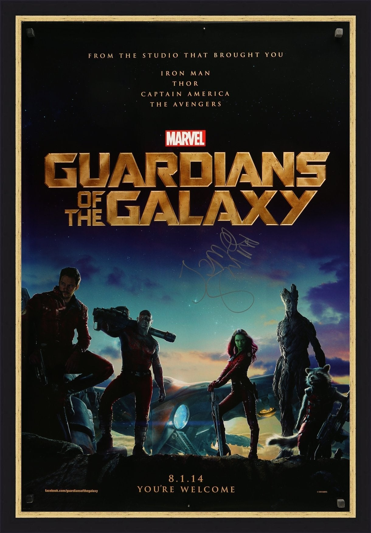 Guardians of the Galaxy - 2014 - Signed