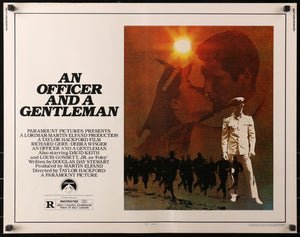 An original movie poster for the film An Officer And A Gentleman