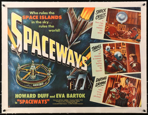 An original movie poster for the Hammer Horror sci-fi Spaceways