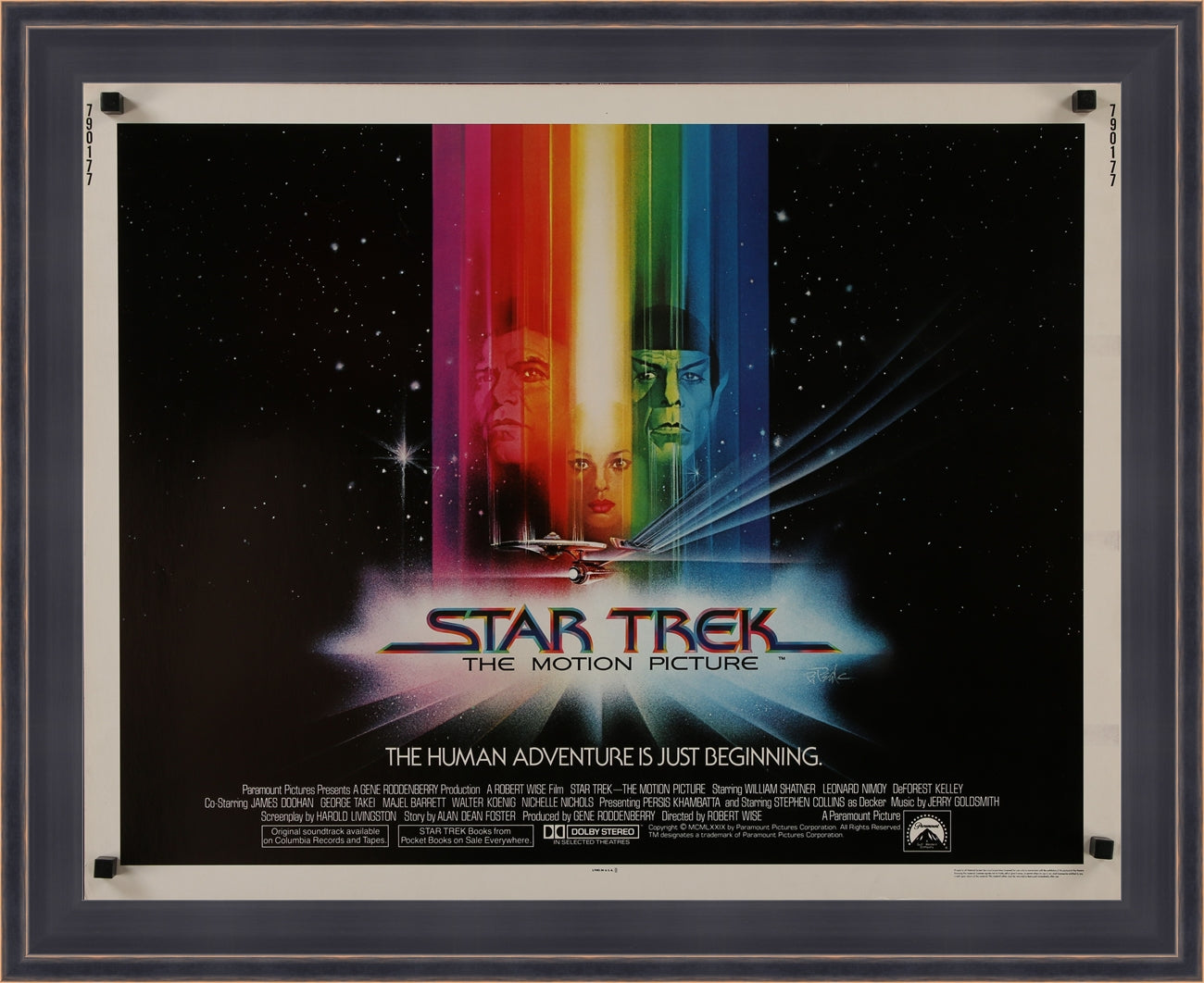 A guaranteed original US half sheet movie poster for Star Trek - The Motion Picture