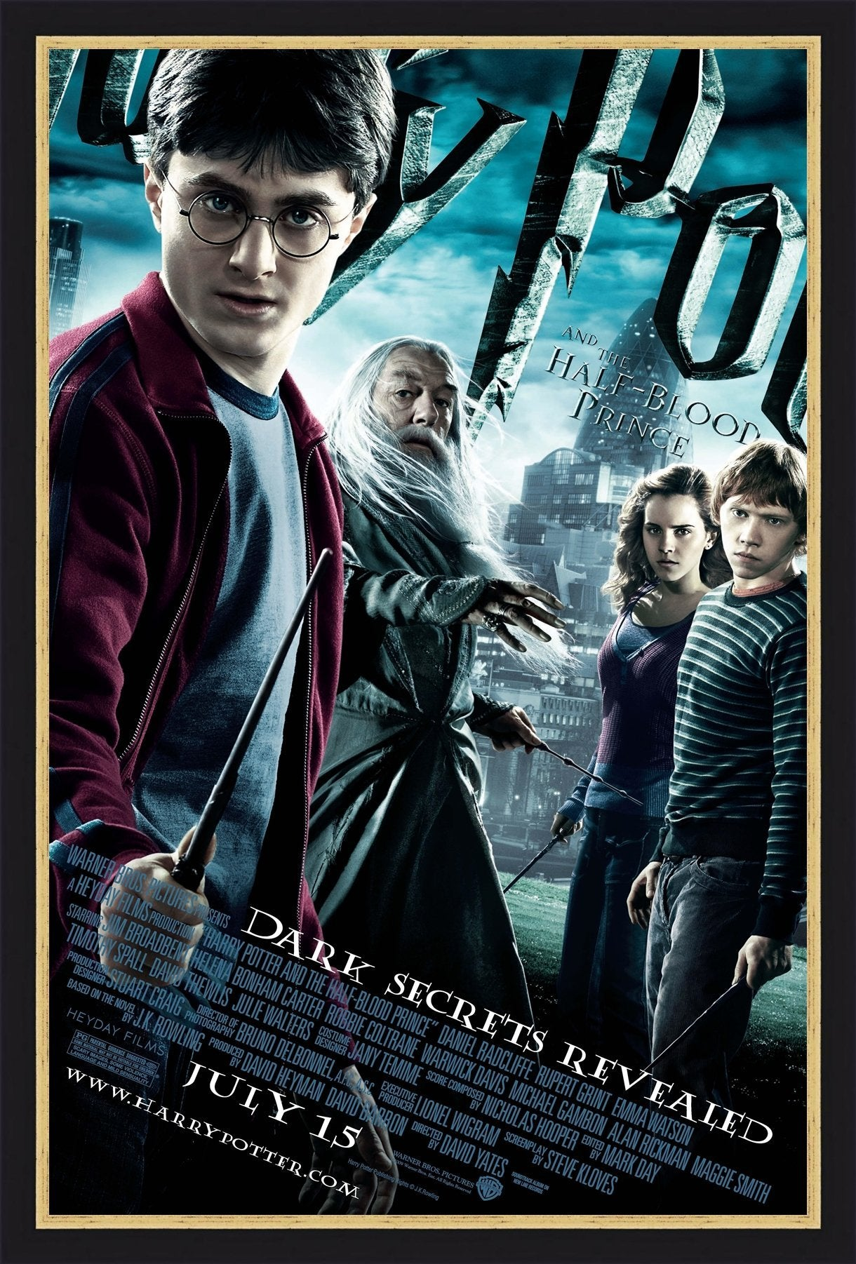 An original movie poster for the film Harry Potter and the Half Blood Prince