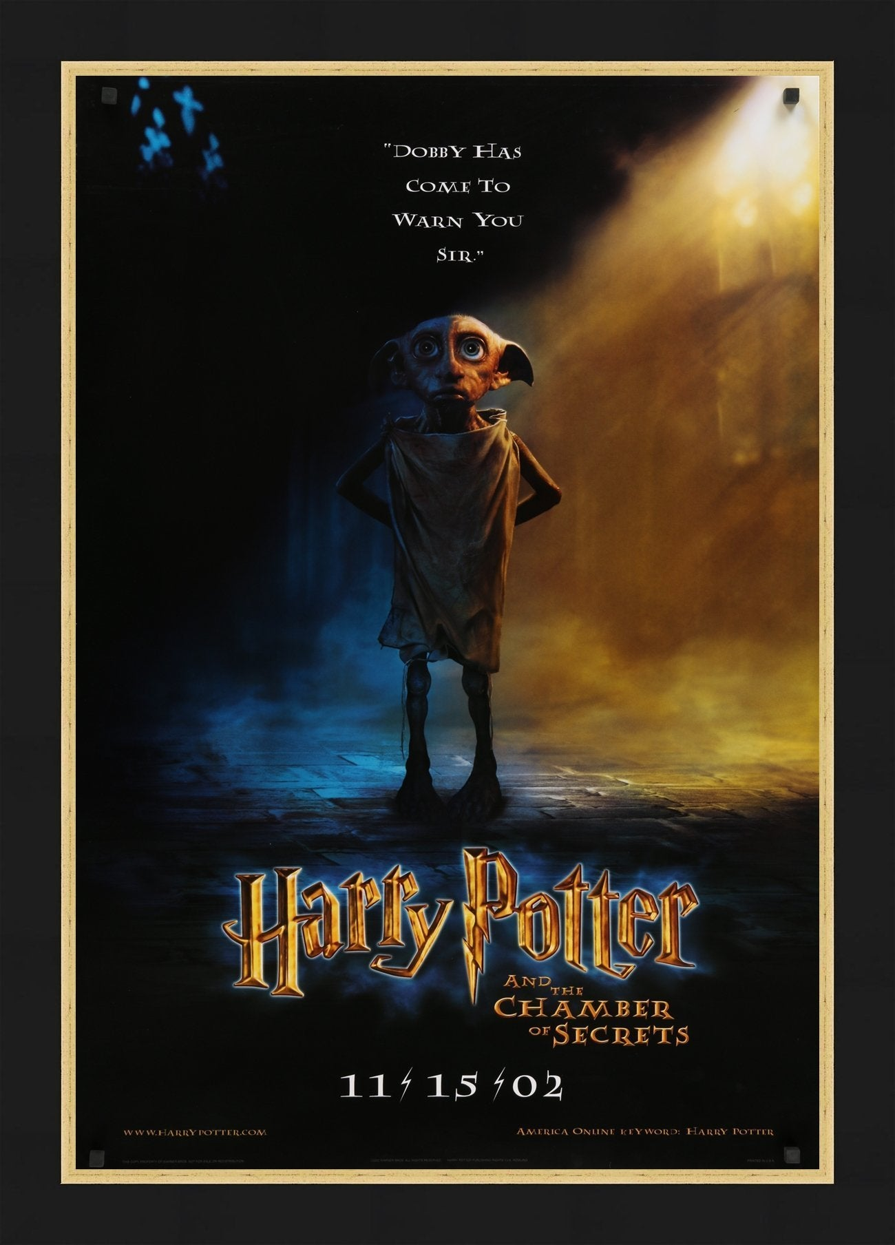 An original movie poster for HARRY POTTER and THE CHAMBER OF SECRETS