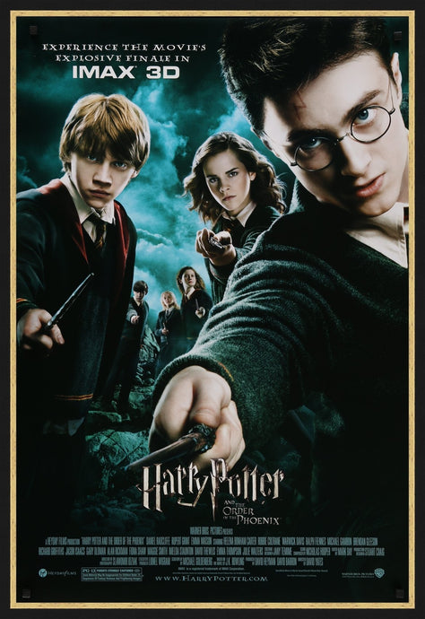 An original movie poster for the film Harry Potter and the Order of the Phoenix