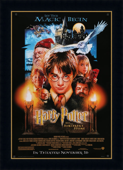 An original movie poster for Harry Potter and the Philosopher's / Sorcerer's Stone