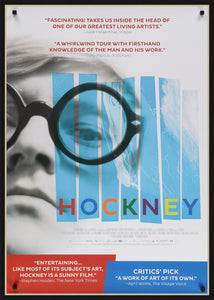 An original movie poster for the film Hockney